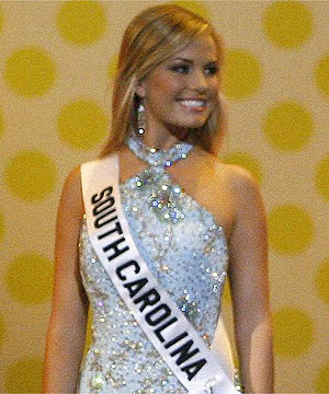 TONGUE TWISTER: Miss Teen South Carolina Lauren Caitlin Upton has become a ...