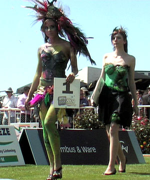Two Contestants Front Up For The Body Painting Competition
