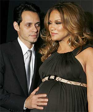 Pregnant Jennifer Lopez and Marc Anthony is set to receive a record $6 ...