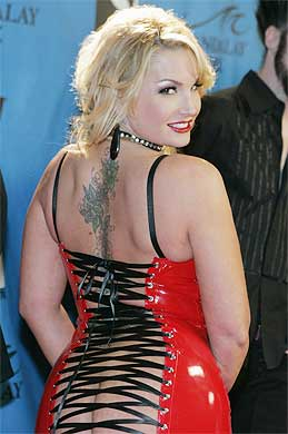 GOOD SIDE: Adult film actress Flower Tucci arrives for the Adult Movie ...