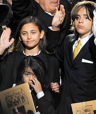 mj's children at funeral