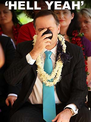 The traditional Samoan kava ceremony held no fears for Prime Minister John Key on his arrival in the Pacific Island nation today.