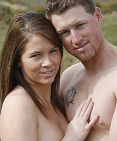 NUDE WEDDING: Cherie Taylor and Shane Carson are all set to get married in ...
