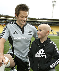 BIGGEST FAN: Brad Burt says he had been ticking off the days till he got to meet his hero Richie McCaw.