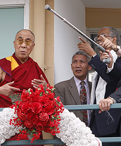 Dalai Lama visits King assassination site