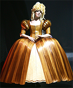 HAVING A BALL: Lady of the Wood , an 18th-century-style all-timber ballgown, took the top prize at the World of WearableArt awards.