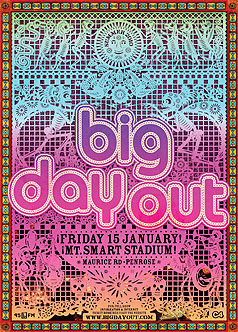 Next year's Big Day Out will be held on January 15 at Mt Smart Stadium in Auckland.