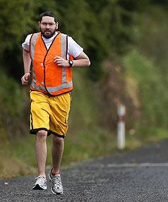 NEXT STEP: Double lung transplant recipient Jonathan Fowler, of New Plymouth, is all geared up for the Taranaki Steelformers Around the Mountain Relay.