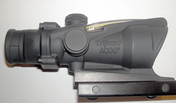 BAD MESSAGE: A Trijicon gunsight, used by Kiwi soldiers, is marked with its stock number followed by JN8:12  a biblical reference.