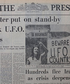 UFO stories in 'The Press' from early January 1979 - www.stuff.co.nz