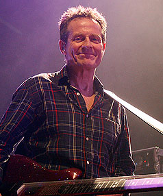 John Paul Jones performs at Vector Arena with Them Crooked Vultures on Saturday night.