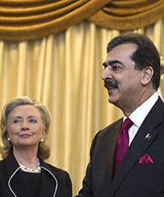 Gilani and Clinton