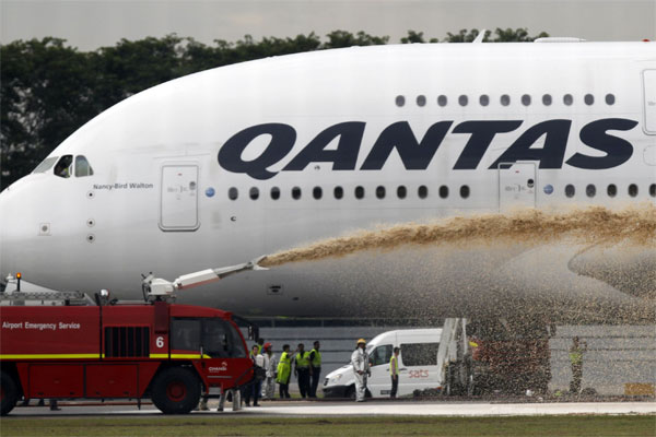 Qantas spray
