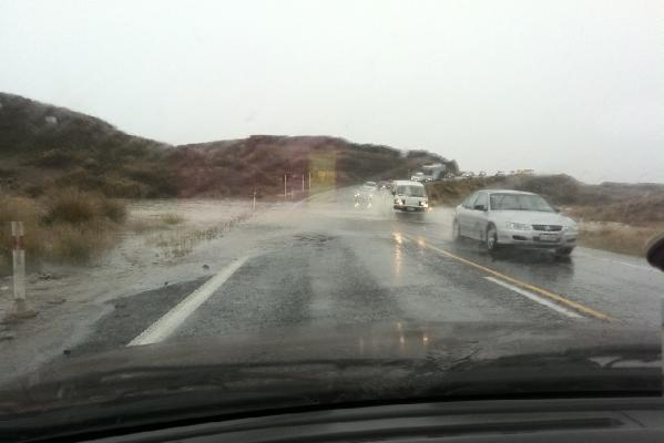 Desert Road flooding