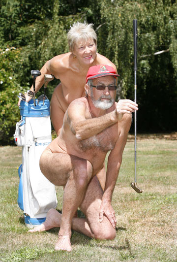 Kay Hannam and Brian Williams from Wai-natur Naturist Park gets some ...