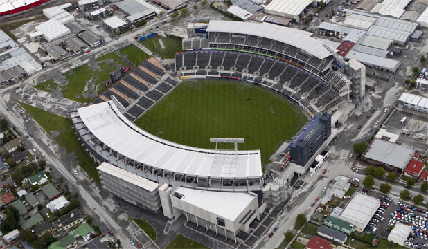SORRY SIGHT: Christchurch's AMi Stadium is likely to be out of action for months after severe damage in  last month's earthquake.