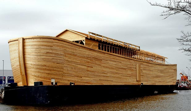A general view of a working replica of Noah's Ark built by Johan Huibers as a testament to his faith in the Bible in Schagen, the Netherlands, in 2006.