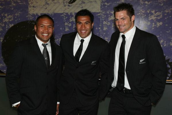 Keven Mealamu, Mils Muliaina and Richie McCaw