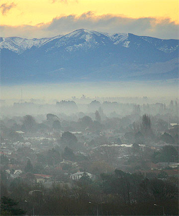 WHAT SMOG? Christchurch now has New Zealand's cleanest air on 11 µg/m3, according to the survey.