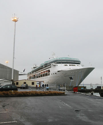 STILL CRUISING: Rhapsody of the Seas docked in Port Tauranga.
