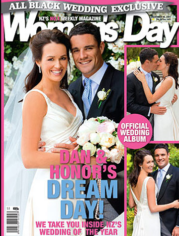 Wedding Guest Dress on The Woman S Day Cover Featuring Dan Carter And Honor Dillon S Wedding