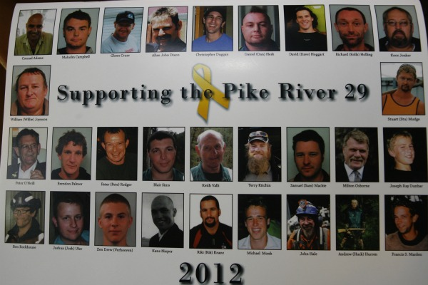 The Pike River miners lost in the November 19, 2010 explosion.