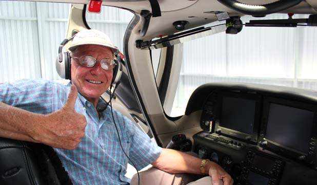 TAKING FLIGHT: Lance Weller flew his single-engine aircraft from Brisbane to Whangarei and is ready to take patients on Angel Flight missions.