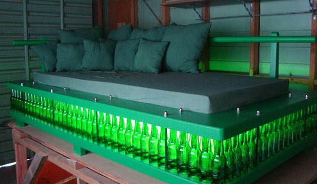 Beer bottle bed