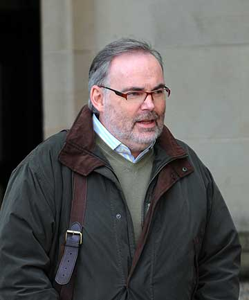 GUILTY: Malcolm Webster, leaving Glasgow High Court at the start of his trial.