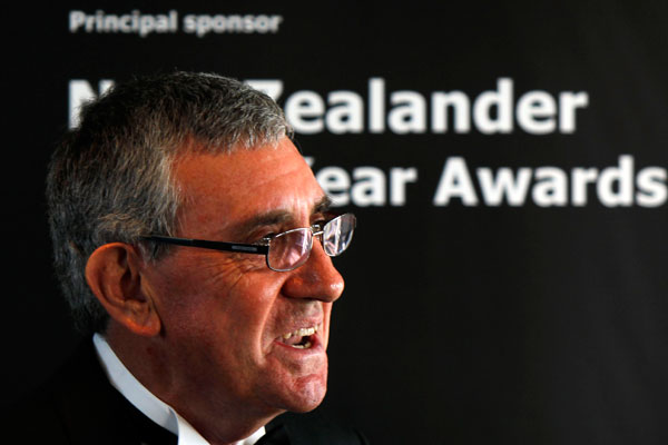 Sir Paul Callaghan at the New Zealander of the Year awards.