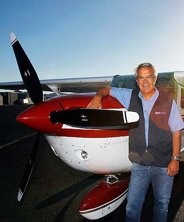 CHANGING LIVES: Pilot Phil Pacey from Drury is a volunteer angel ready and waiting to help.