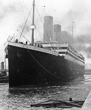 DOOMED: The RMS Titanic.