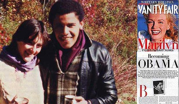 Genevieve Cook with a young Barack Obama.
