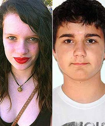 Missing teens Sophie McGregor and Lucas Bollard.