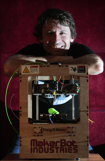 Ben Buckland of Page Pulse with his 3-D printer.