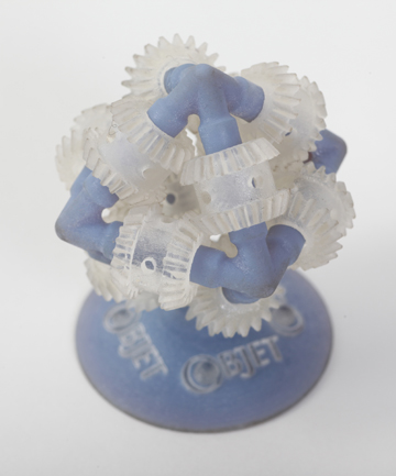 Formed in a Objet 3D printer.