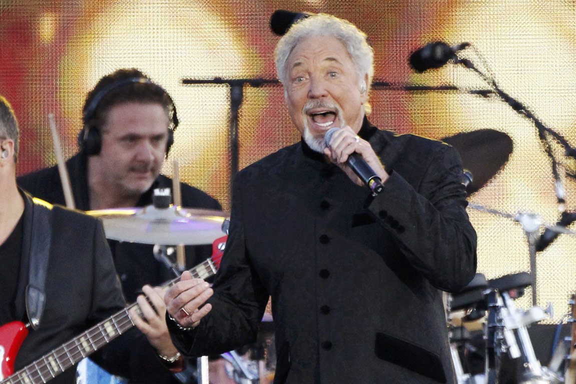 Singer Tom Jones performs during the Diamond Jubilee concert in front of Buckingham Palace in London.