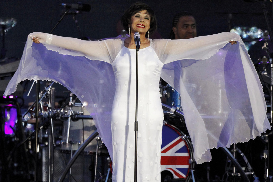 Singer Shirley Bassey performs during the Diamond Jubilee concert in front of Buckingham Palace in London.
