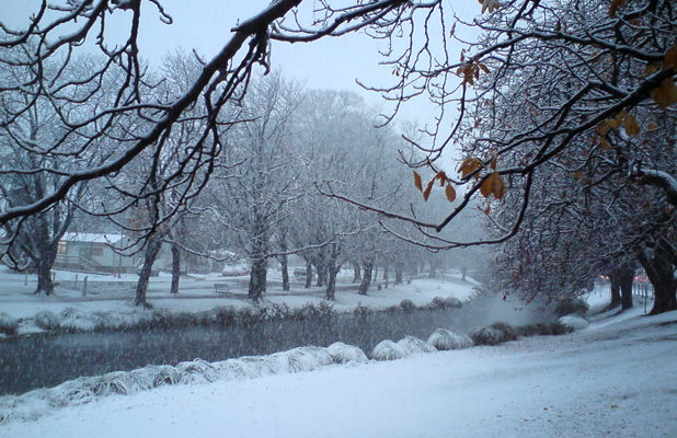 Avon River snow