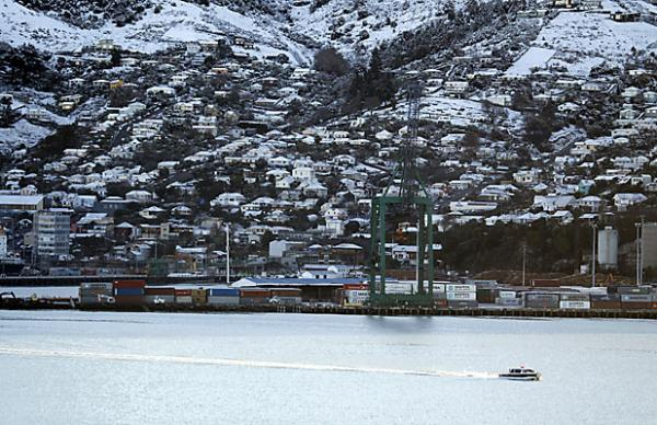 Lyttelton dusted with snow