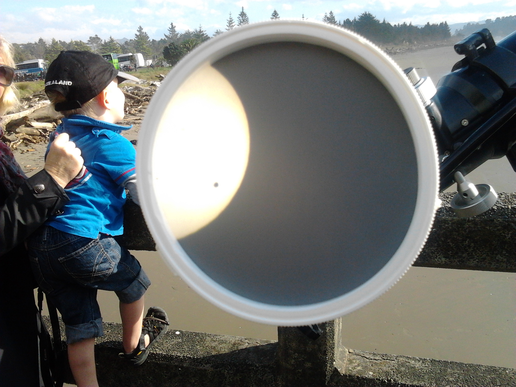 Transit of Venus from Tolaga Bay Wharf, 6th June 2012