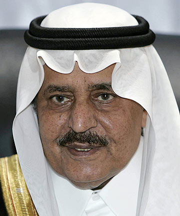 DECEASED: Prince Nayef, Saudi Arabia's Crown Prince.