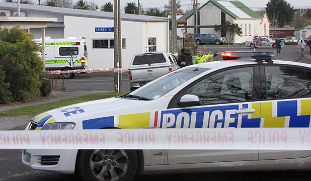 Paeroa police scene