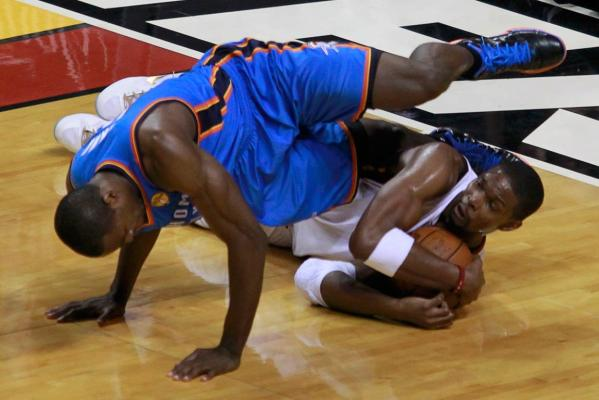 Serge Ibaka and Chris Bosh