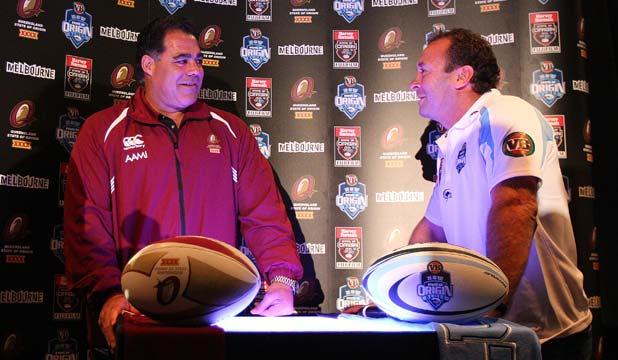 Mal Meninga and Ricky Stuart