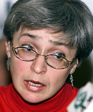 OUTSPOKEN: Anna Politkovskaya, a sharp critic of Kremlin policies in Chechnya, was gunned down in the elevator of her Moscow apartment building.