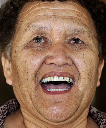 CUSTOMARY PRACTICE: Josephine Takamore arrives at the Supreme Court in Wellington for the hearing on a continuing dispute about the burial of her brother James  by his Tuhoe relatives without his widow's consent.
