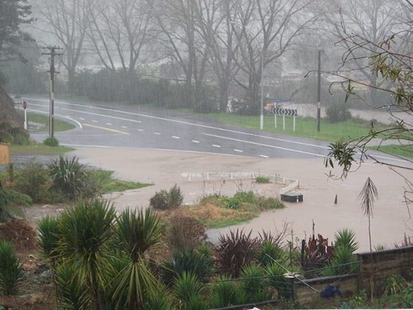 Flooding around Waikino near Waihi.