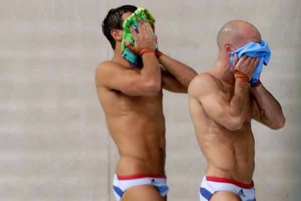 Britain's Tom Daley and Peter Waterfield