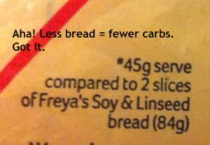Less actual bread. So that's how they do it. The clever buggers.